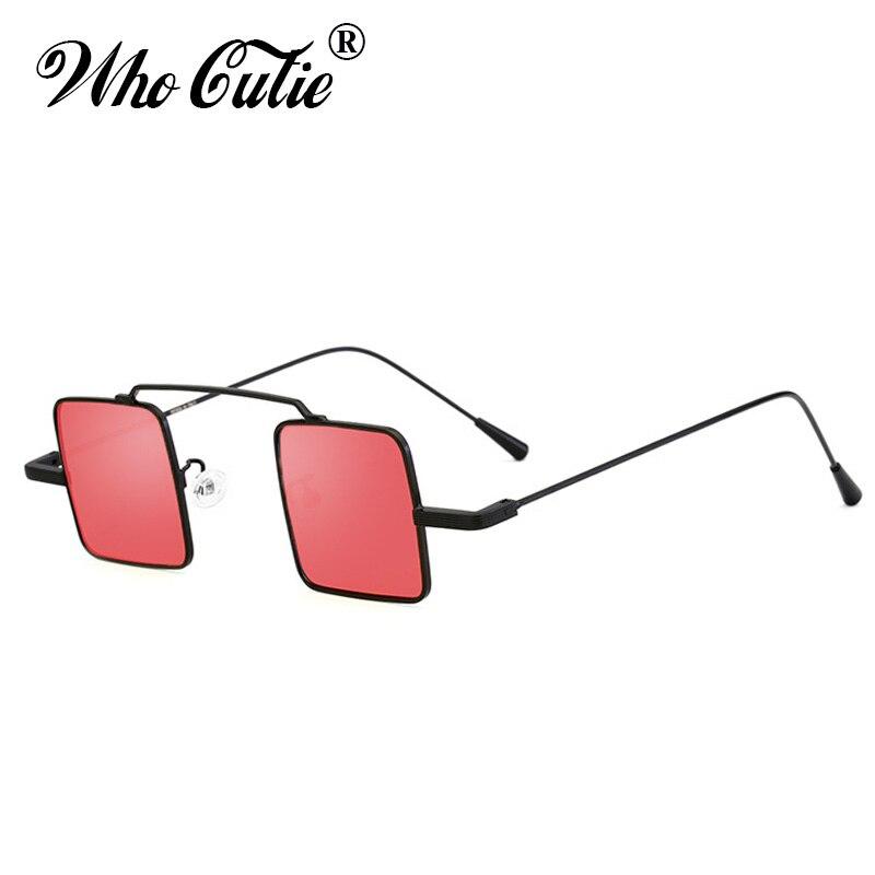 e33c6da9e5c2ed QUI CUTIE 90 s Petit Carré Steampunk lunettes de Soleil Femmes Hommes  Marque Designer Vintage Rétro