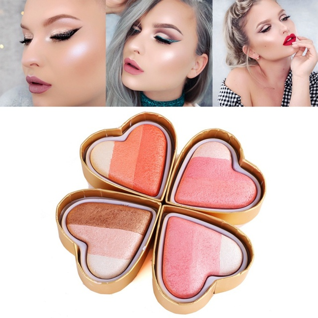 4 Colors Crystal Diamond Cream Eyeshadow Palette Glitter Shimmer Heart Shaped Eye Shadow Makeup Smooth Eyes Nude Cosmetic
