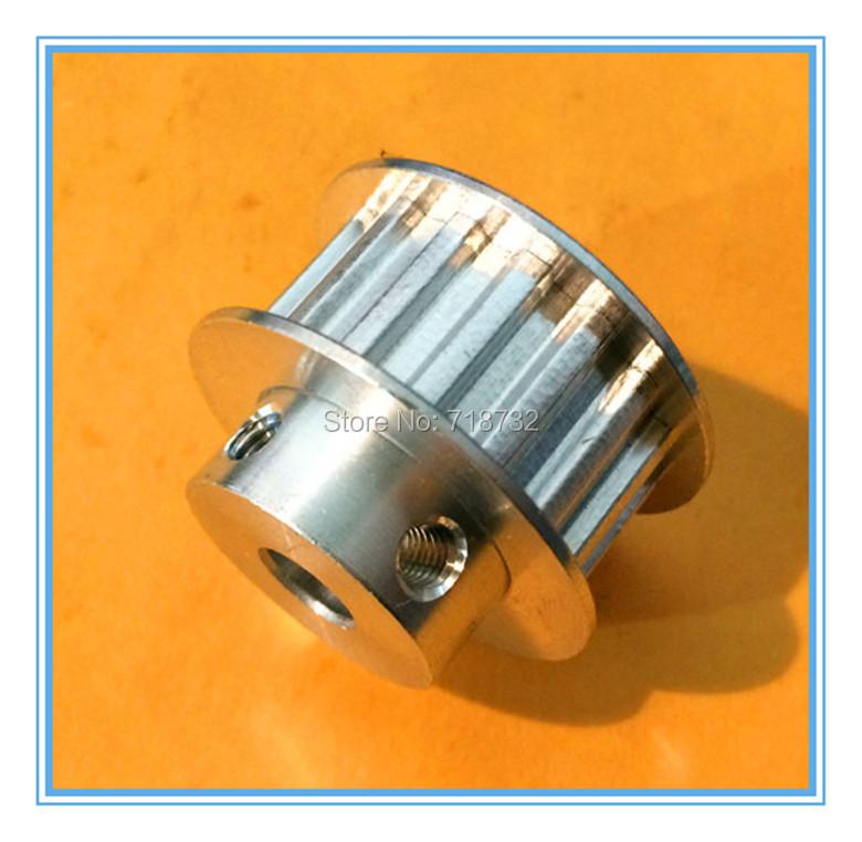 20 teeth T5 timing belt pulleys 300mm length 15mm belt width round timing belts