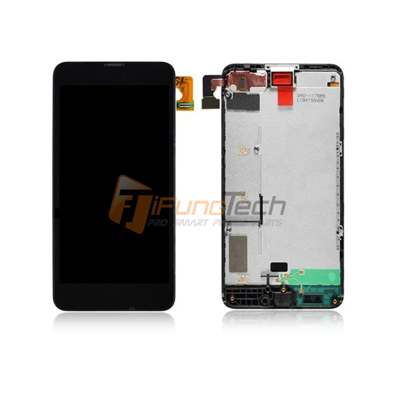 5PCS / Lot Touch Screen Digitizer + LCD Display Digitizer Assembly With Frame + Free Shipping For Nokia Lumia 630 N630 5pcs lot free shipping for iphone 5s lcd display touch screen digitizer frame assembly white black