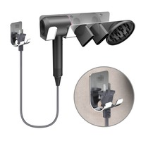 Hair Dryer Wall Mount bracket Hanger Holder for Dyson Supersonic Hair Dryer Accessories Aluminum Alloy Cradle Bracket Hook