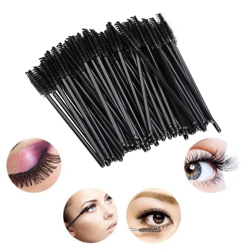 100Pcs One-Off Disposable Eyelash Brush Mini Mascara Wand Applicator Makeup 88 WH998