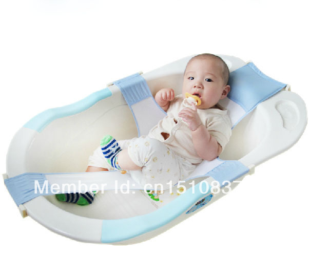 hot new baby safety bathtub support bath shower support net cradle baby bath. Black Bedroom Furniture Sets. Home Design Ideas