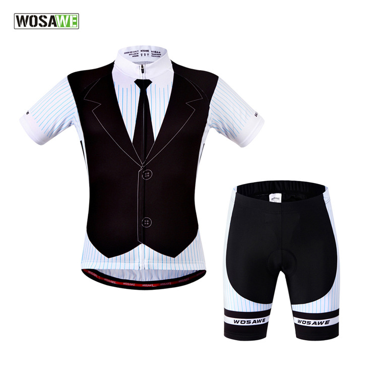 WOSAWE Summer Cycling Sets Women Cycling MTB Short Sleeves Bike Bicycle Jersey Sets Shirts 3D Padded Jersey Suit Wear Uniforms gore bike wear women s xenon lady jersey