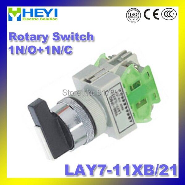 LAY7-11XB/21 (Y090-11XB/21) поворотный переключатель 22 мм 1N/O + 1N/c 50/60 Гц селектор переключатель длинной ручкой Micro переключатель