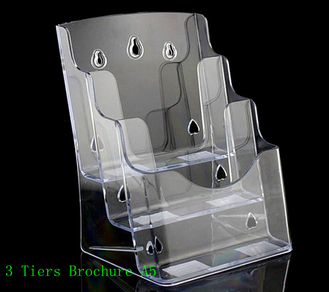 Clear A40 40 Tiers Plastic Brochure Literature Pamphlet Display Holder Mesmerizing A5 Leaflet Display Stands