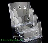 Temizle A5 3 Katlı Plastik Broşür Edebiyat broşürü Ekran Tutucu Raflar Masaüstünde broşür Standı Takın Için 30 adet