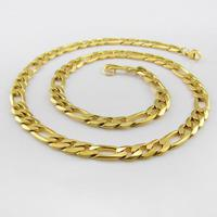 2019 Stainless Steel Yellow Gold Color Men Necklace Statement Chains Necklaces Men Fashion Men Jewelry 100cm 2cm width B2