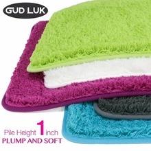 Solid polyester bath mats Anti skid Bathroommat PVC back Floor mats Shaggy Door Mat fur full and soft Carpets BHS CXML A01