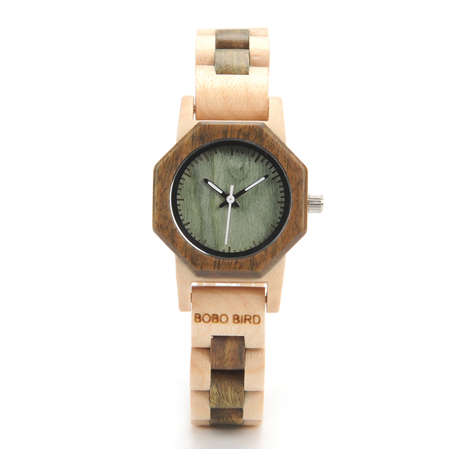 BOBO BIRD Octagon Ladies Wooden Watches LM25 Top Brand Luxury Hours Women Kol in Gift Box as Valentine's Day Gift 4