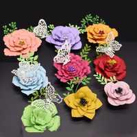 Matrices de découpe en métal à fleurs pour bricolage Scrapbooking décor 3D en relief