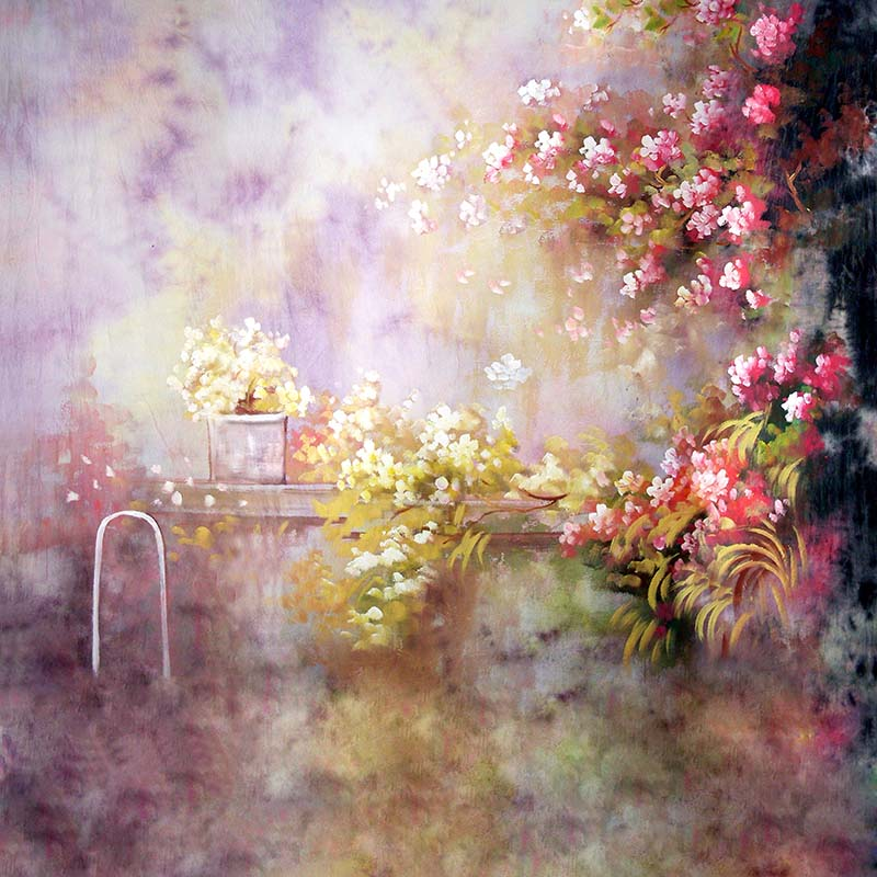 Seamless Printed Photography Background oil painting Flower Backdrop Customize Vinyl Photography Backdrop  CM4422 vinyl backdrop photography lovely painting of wildflowers newborn photography background cm s 110