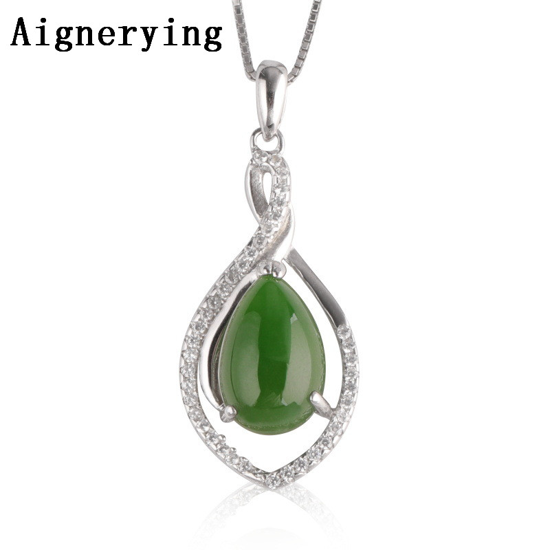 S925 silver Necklaces Para Vintage for Women/Men Necklace inlaid Porte Certificate natural Green Jade Pendant Bijou Gift Box S925 silver Necklaces Para Vintage for Women/Men Necklace inlaid Porte Certificate natural Green Jade Pendant Bijou Gift Box