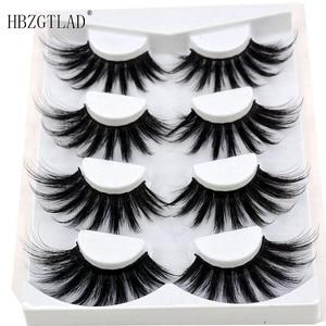 Image 5 - 4/9 Pairs 3D Mink Hair False Eyelashes Criss cross Wispy Cross Fluffy length 16 25mm Lashes Extension Handmade Eye Makeup Tools
