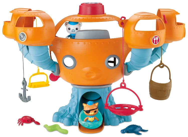 Free shipping by trackable shipping 1 set Octonauts Oktopod Splelset without box figure toy Chinese Edition child Toys original octonauts octonauts marine animals creatures figures toy sea turtle urchin white tip shark child toys minifigures