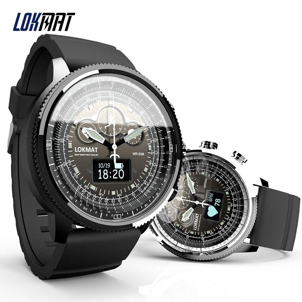 LOKMAT MOKA Bluetooth Smart Watch Men Women Sport Waterproof Pedometers Information Reminder Clock Smartwatch for ios