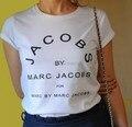 Algodão ocasional das mulheres dos homens brancos de manga curta tshirt 2015 moda o-pescoço jacobst impresso t-shirt tops vestidos camisetas tshirt