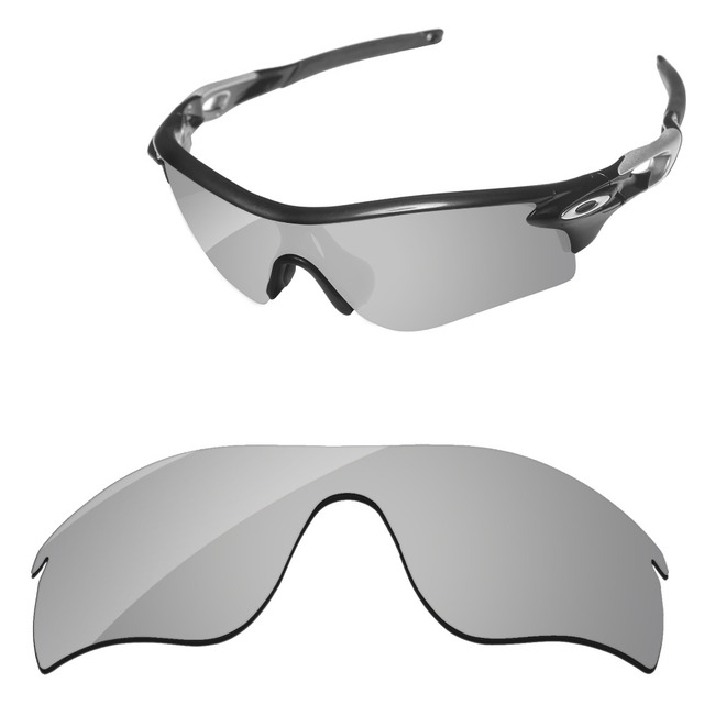 bc68af7d82eb3 Polycarbonate-Chrome Silver Mirror Replacement Lenses For RadarLock Path  Sunglasses Frame 100% UVA   UVB Protection