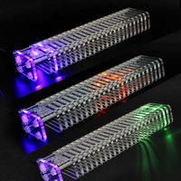 led music Elecrow K25 Crystal DIY LED Music Spectrum Analyzer USB 3D LED Light Cube Kit Audio RC Spectrum DAC For Music MP3 Amplifier (3)