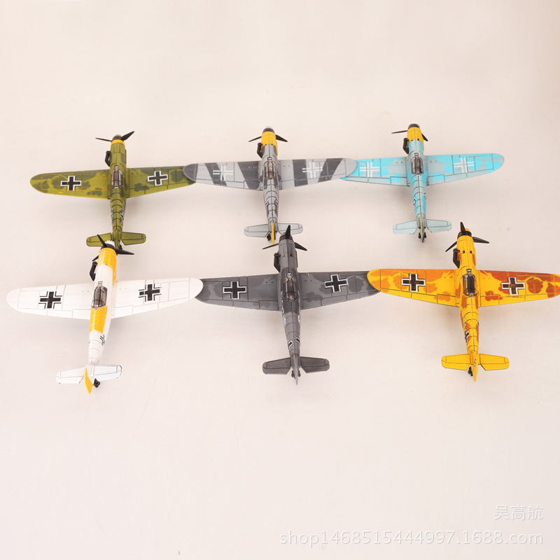 6pcs/set World War Ii Aircraft Assembly Model 3d Puzzle Germany Plane Scene Sand Table Model DIY Airplane Drone