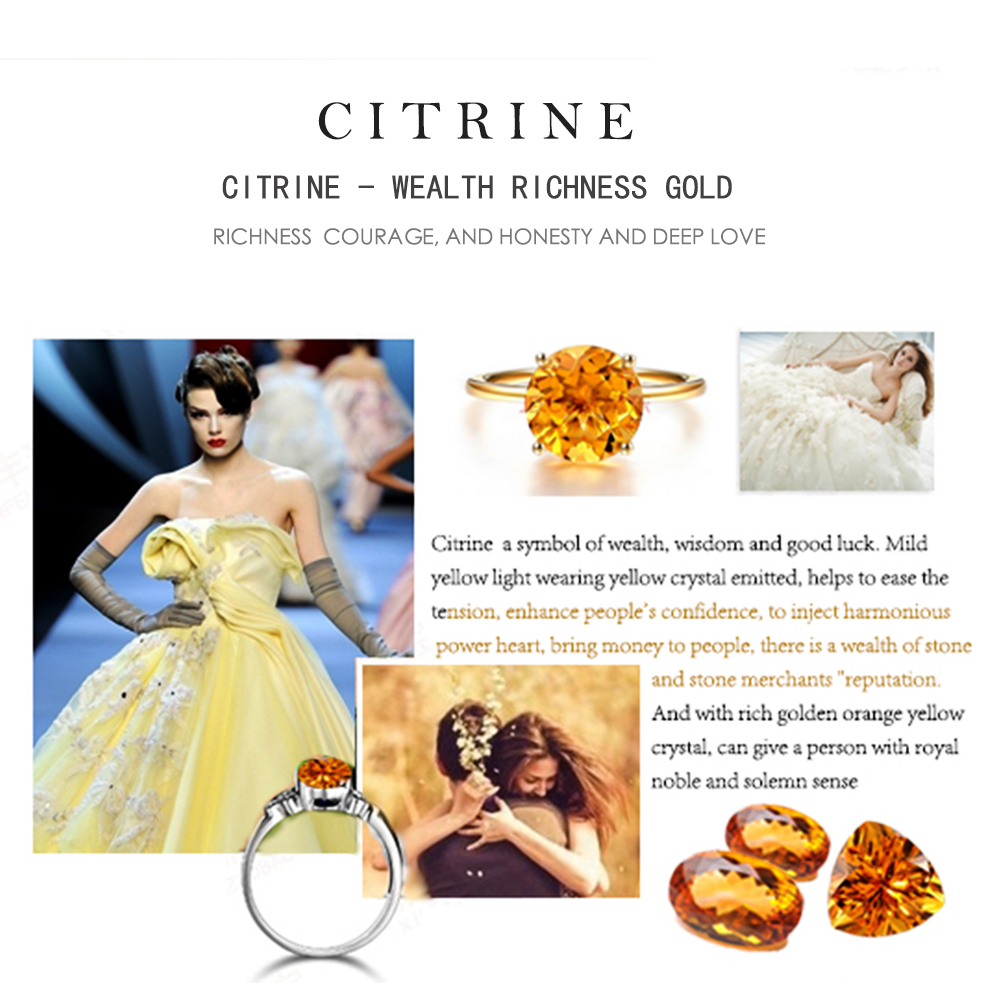 Natural Gemstone Citrine Yellow LMCTR