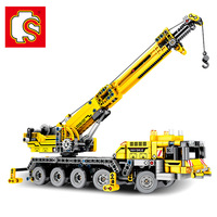 SEMBO Technic Engineering Lifting City Crane Truck Compatible LegoINGly Building Blocks Construction Toys for Children Gift