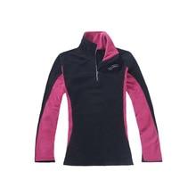 цены на Women Outdoor Climbing Hiking winter Fleece Jacket Full sleeve half zipper Shirt Thermal Sport Coat warm Comfort Pullover XL  в интернет-магазинах