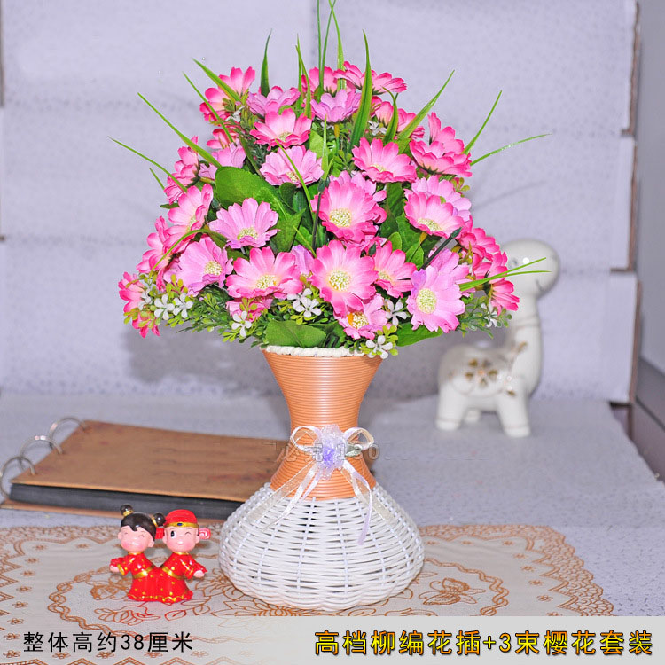 A Flower + Vase Artificial Flower Set Living Room Decoration Arts ...