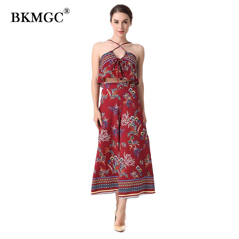 Indie Folk Flower Jumpsuit 2018 Fashion Chiffon Embroidered Floral Jumpsuit For Women Slash Neck Spring Elegant Jumpsuits Ladies