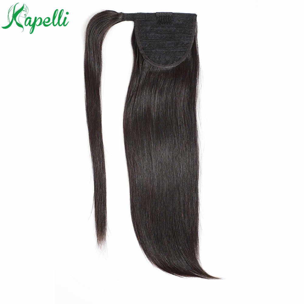 Long Straight Wrap Ponytail Human Hair Ponytail With Clip in Extensions For Women Brazilian Remy Pony Tail Hair Piece 70 to 100g