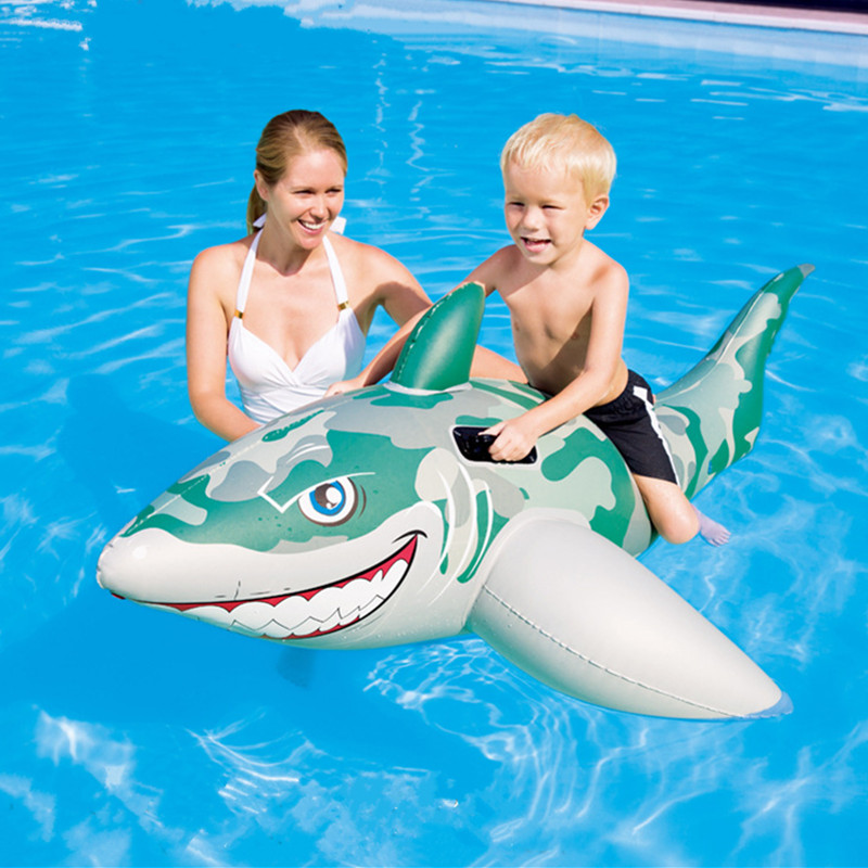 Gonflable Géant Camouflage Requin De Natation Anneau Supports D'anneau de Bain Flottant Piscine Jouets C101