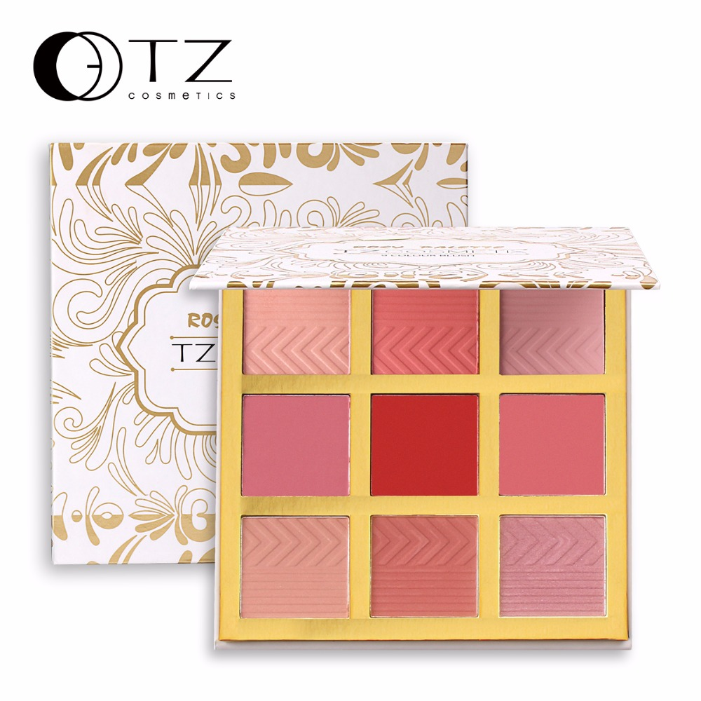 9 Colors Blush Makeup Cosmetic Natural Baked Blusher Powder Palette Charming Cheek Color Make Up Face