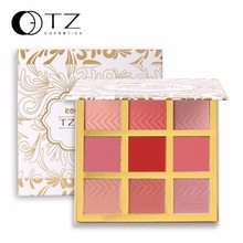 9 Colors Blush Makeup Cosmetic Natural Baked Blusher Powder Palette Charming Cheek Color Make Up Face Blush TZ Classic Color Ele