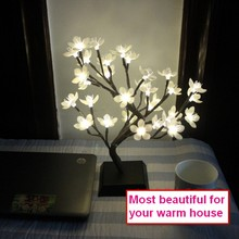 9Pig 36 см высота 32 светодиода украшение дома Имитация дерева белый цветок сливы Настольная лампа Ночной светильник Рождество Свадьба Вечеринка сад