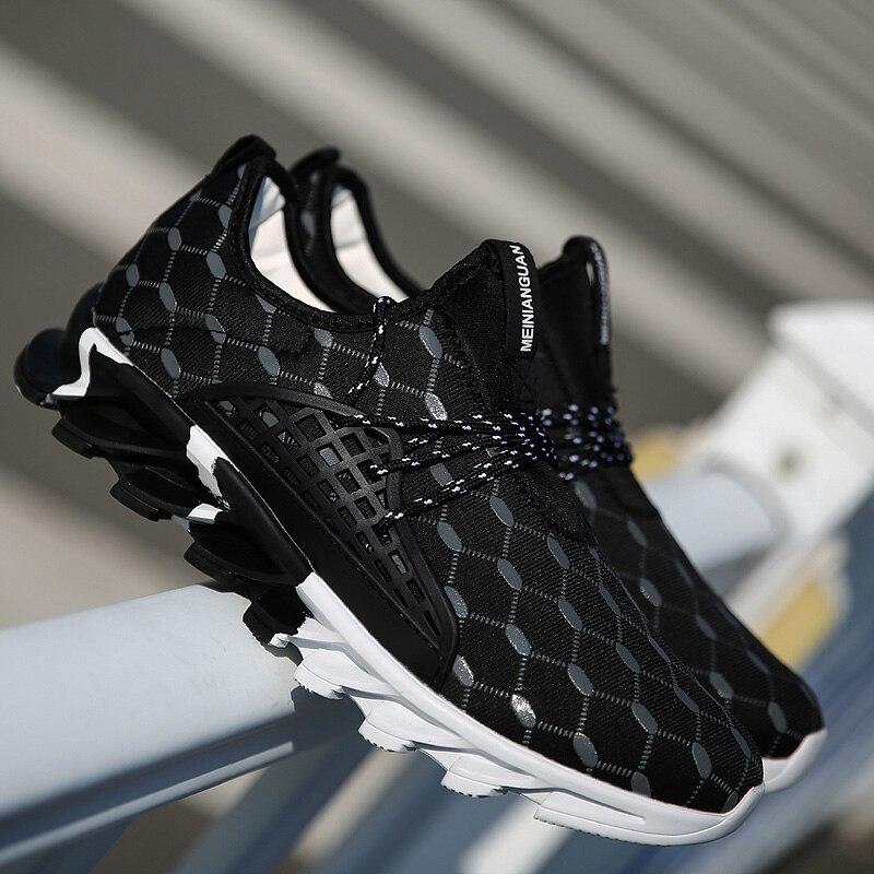 Sapatos de Corrida Sapatos de Corrida ao ar Homens Malha Respirável Sapatilhas Confortáveis Masculino Formadores Calçados Esportivos ao ar Livre 2019 Hot