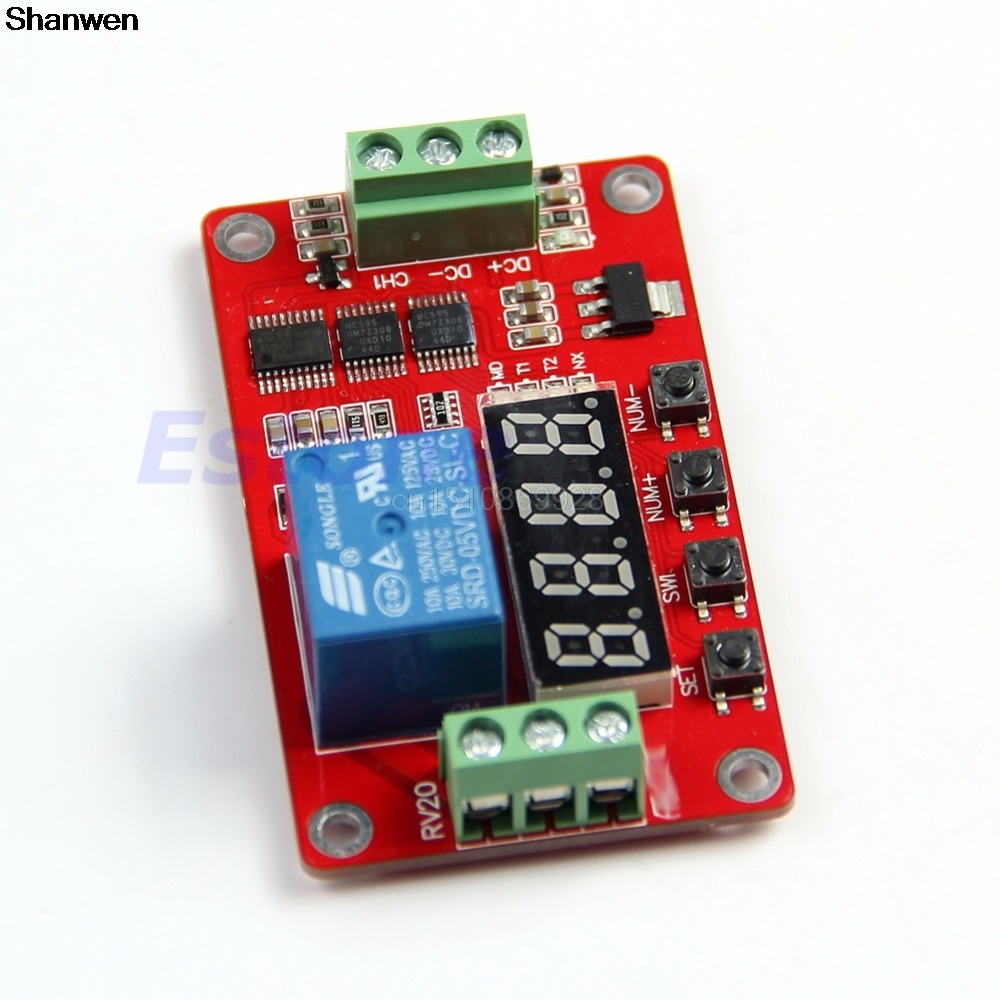 1pc Multifunction Self-lock Relay Cycle Timer Module PLC Home Automation Delay 12V 1pc multifunction self lock relay dc 12v plc cycle timer module delay time relay