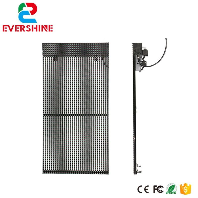 high brightneess p15.625 curtain full color advertising media mesh led display video processor Outdoor billboards wavelets processor