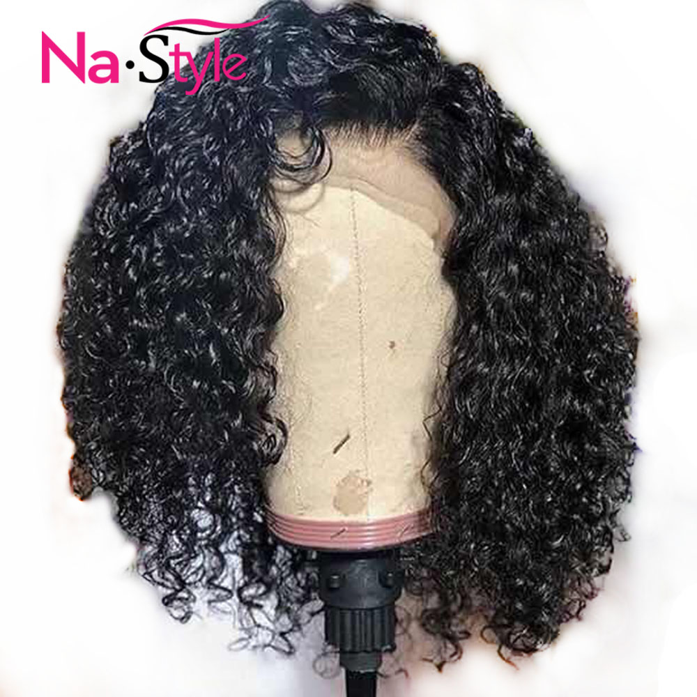 Curly Bob Wig Short Human Hair Wig 13x6 Deep Part Preplucked Lace Wig Brazilian Glueless Frontal Wig Natural Hair Remy Full End(China)