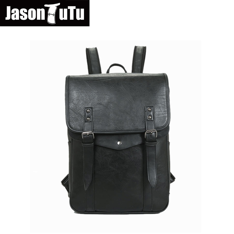 Brown Gray B225 High Quality Frank Jason Tutu Brand Design Leather Backpack Preppy Style School Bags For Teenagers14 Inch Laptop Backpack Black