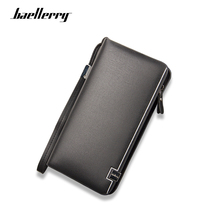 Baellerry Men Wallets Classic Long Style Large Capacity Wallet Male Card Holder Purse High Quality Zipper Luxury Wallet For Men wallet men new brand baellerry leather multifunction wallets large capacity card holder cellphone handbag zipper coins purse bag