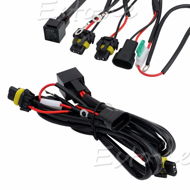 HID Xenon Relay Wire Conversion Light Wiring Harness 9006 9005 H1 H7 on lc2 harness, h2b harness, tandem harness, r1 harness, h11 harness,