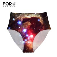FORUDESIGNS Panties High Rise Girl Sexy Underwear Elastic Sofe Women Intimates Calcinhas Starry Sky 3D Print
