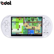 8G X9 Rechargeable 5.0 inch 8G Handheld Retro Game Console Video MP3 Player Camera Handheld Game Players(China)