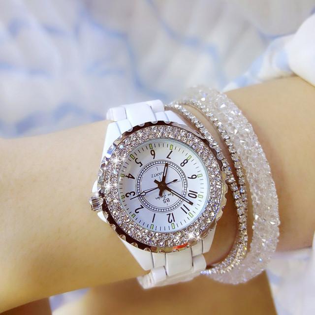 White Ceramic Ladies Wristwatches