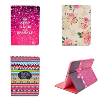Hot Sale Painted PU Leather Flip Flower Style Cover Case For Apple IPad 5 IPad Air