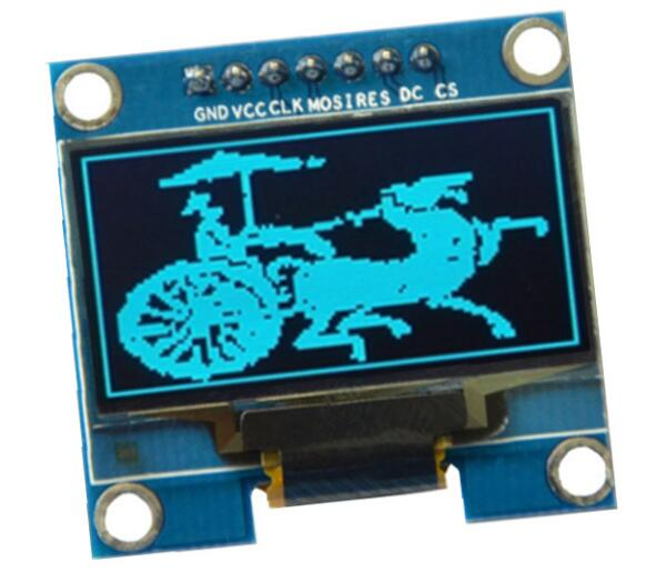 NoEnName_Null 1.3 inch OLED 128x64 blue color display screen module support SPI IIC interface 7 pin