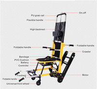 Cheapest lightweight portable power electric stair climbing wheelchair with lithium battery for elderly