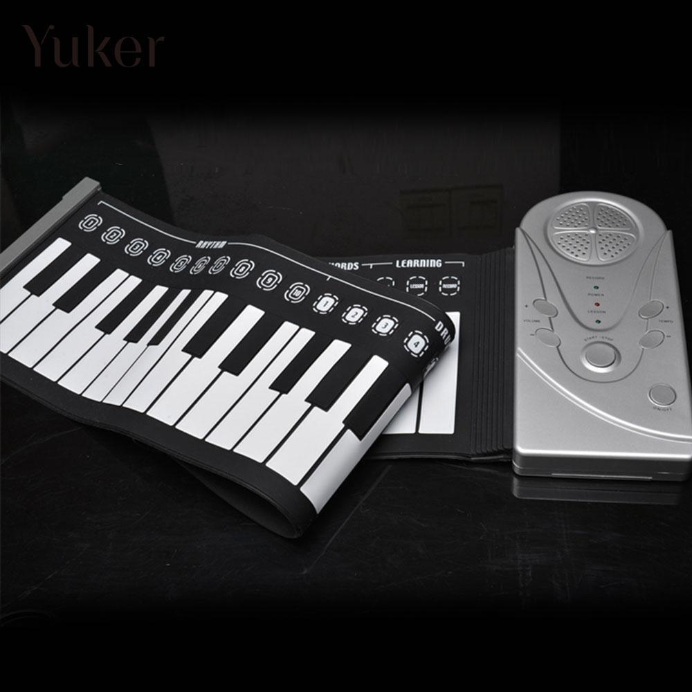 Avec haut-parleur enroulable Piano 49 touches clavier électronique Piano Instruments de musique flexibles orgue électronique chargement USB