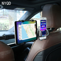 2in1 Car Back Seat Holder Tablet Mobile Phone Stand Ipad Adjustable Auto Chair Shelf Headrest Stent Seat Back Pillow Bracket