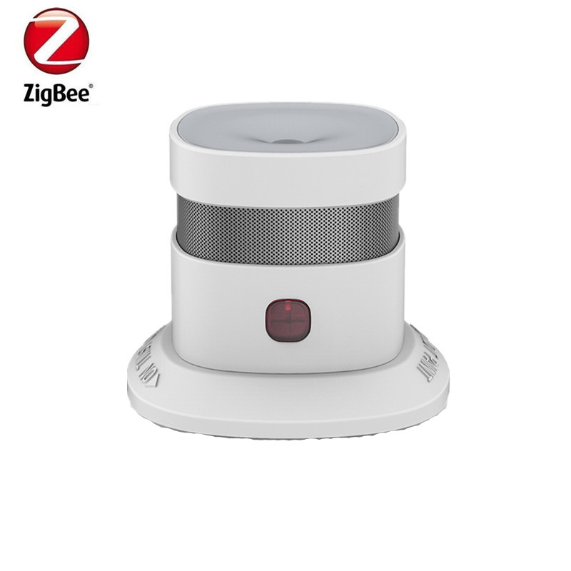 Heiman 10 Year Battery Life Zigbee Smoke Detector Fire Alarm Detector Smart Home Sensor 2.4GHz High Sensitivity Bulit In Battery